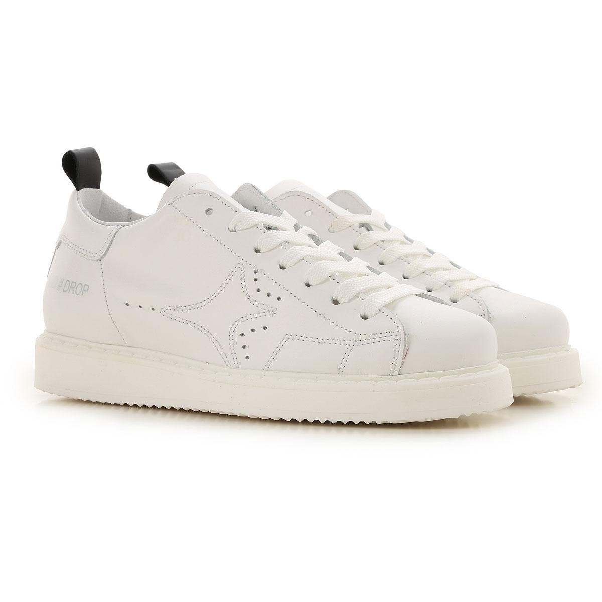 Ama Brand Sneaker Femme, Blanc, Cuir, 2017, 36 37 38 40