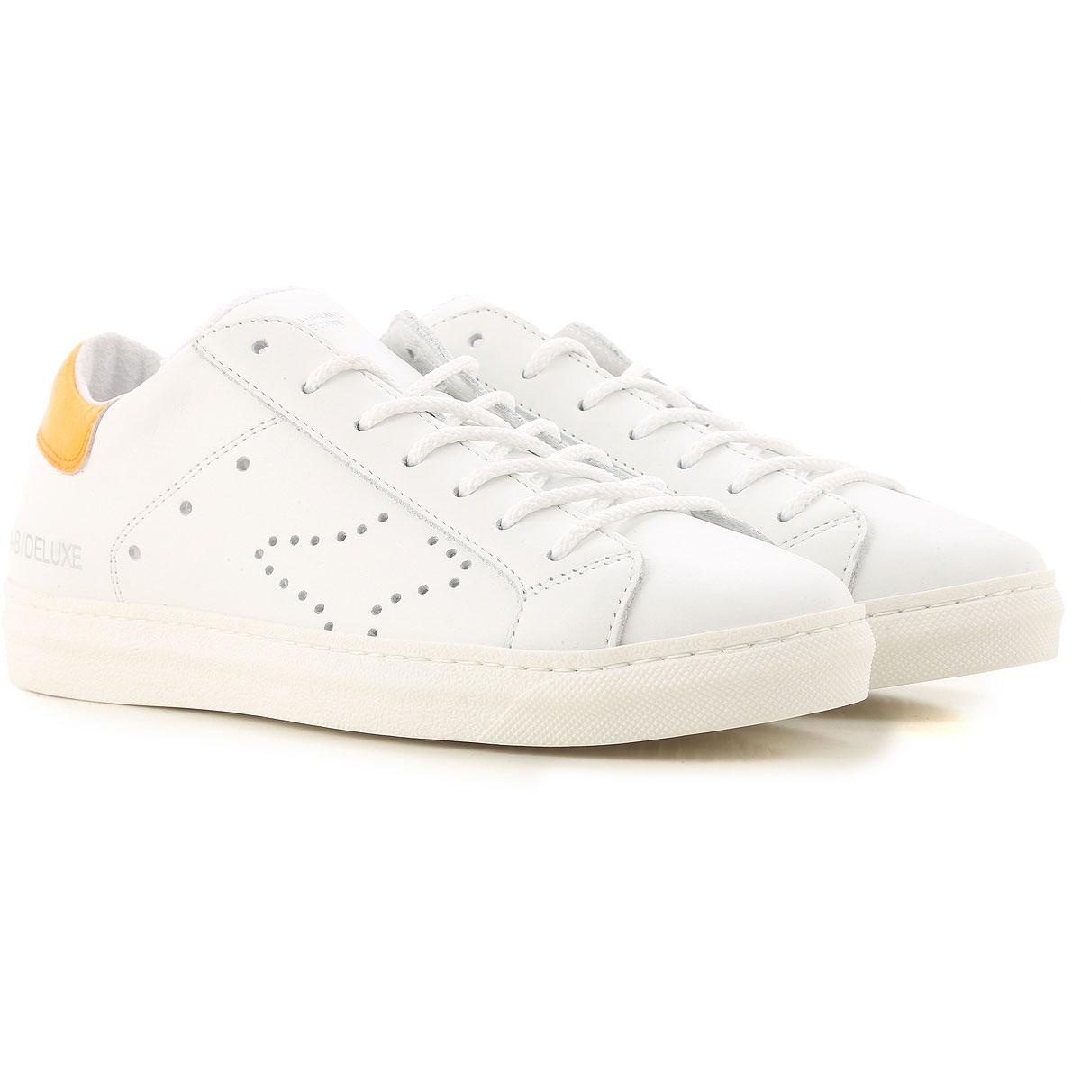 Ama Brand Sneaker Femme Pas cher en Soldes, Blanc, Cuir, 2017, 37 38 39 40