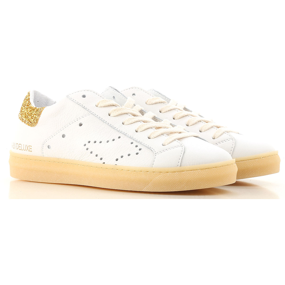 Image of Ama Brand Sneakers for Women On Sale, White, Leather, 2017, EUR 37 - UK 4 - USA 6.5 EUR 38 - UK 5 - USA 7.5 EUR 39 - UK 6 - USA 8.5