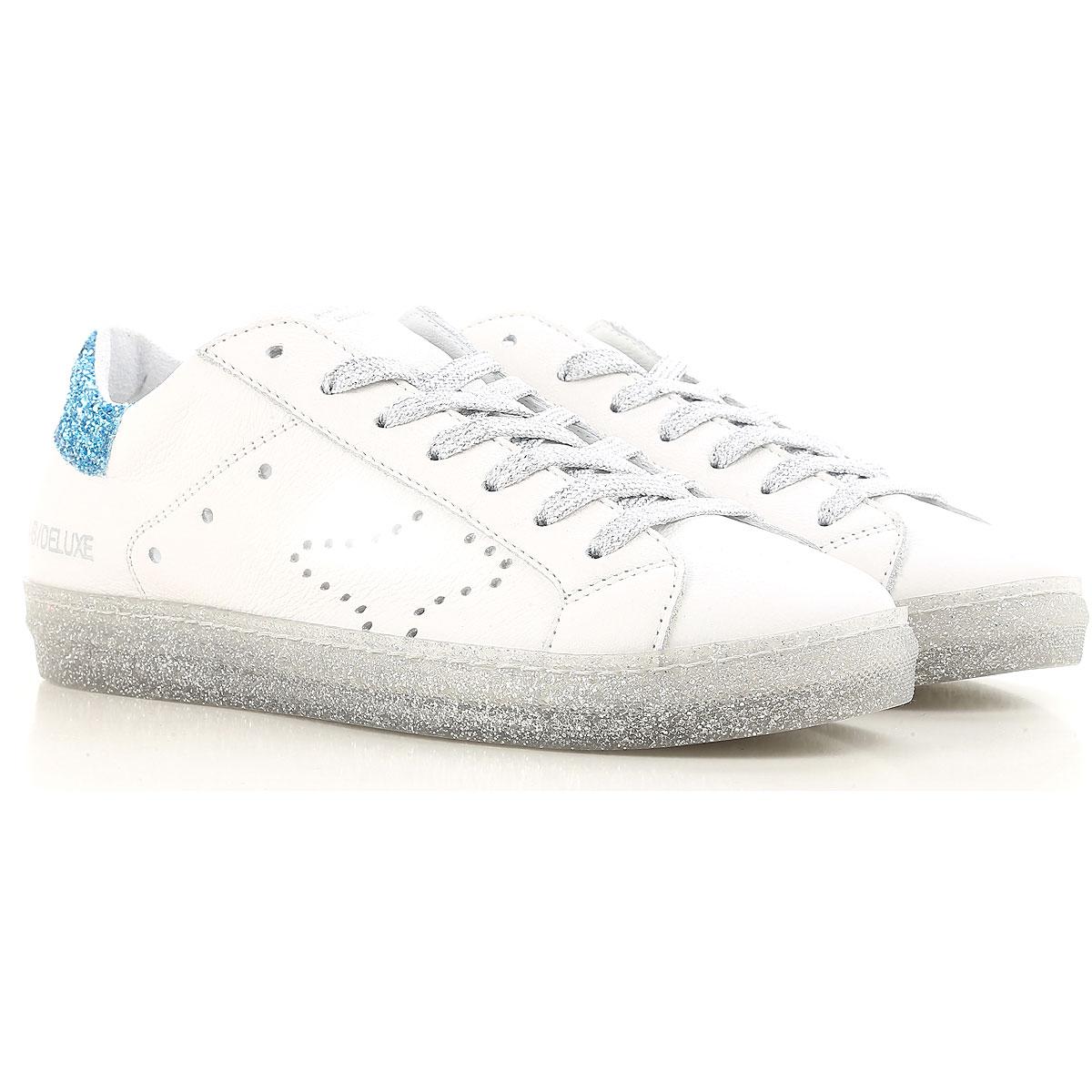 Ama Brand Sneaker Femme Pas cher en Soldes, Blanc, Cuir, 2017, 38 39 40