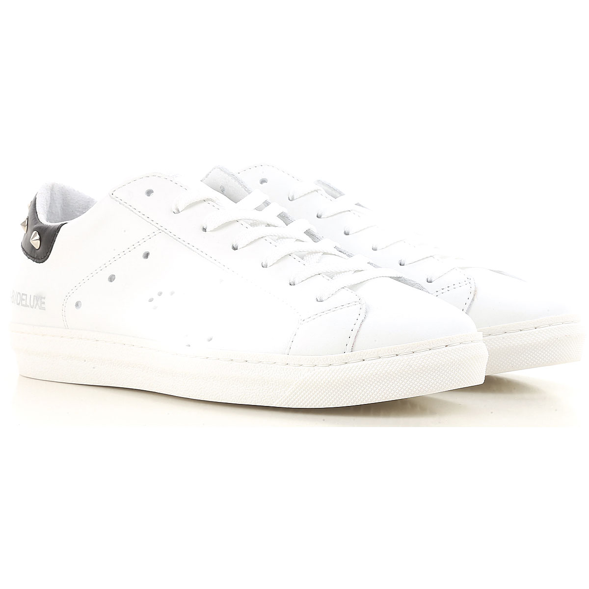 Image of Ama Brand Sneakers for Women On Sale, White, Leather, 2017, EUR 37 - UK 4 - USA 6.5 EUR 38 - UK 5 - USA 7.5 EUR 39 - UK 6 - USA 8.5 EUR 40 - UK 7 - USA 9.5