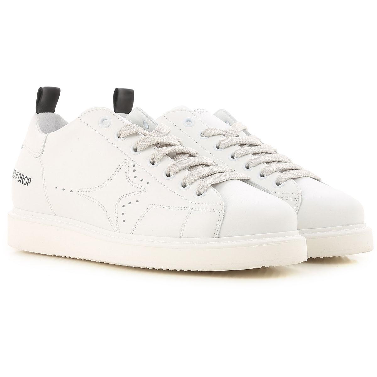 Ama Brand Sneaker Femme, Blanc, Cuir, 2017, 36 37 39 40