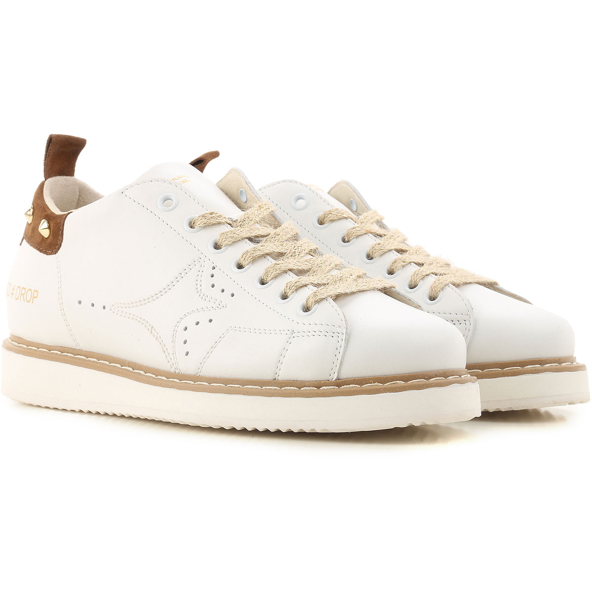 Image of Ama Brand Womens Shoes On Sale, White, Leather, 2017, EUR 36 - UK 3 - USA 5.5 EUR 40 - UK 7 - USA 9.5