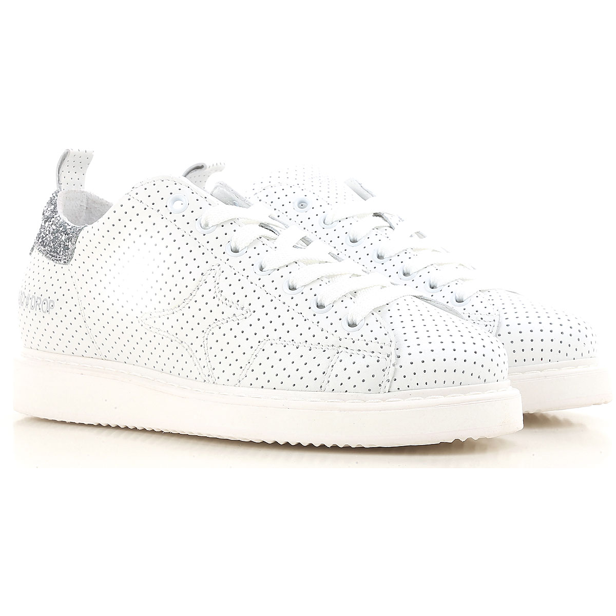 Image of Ama Brand Sneakers for Women On Sale, White, Leather, 2017, EUR 36 - UK 3 - USA 5.5 EUR 40 - UK 7 - USA 9.5