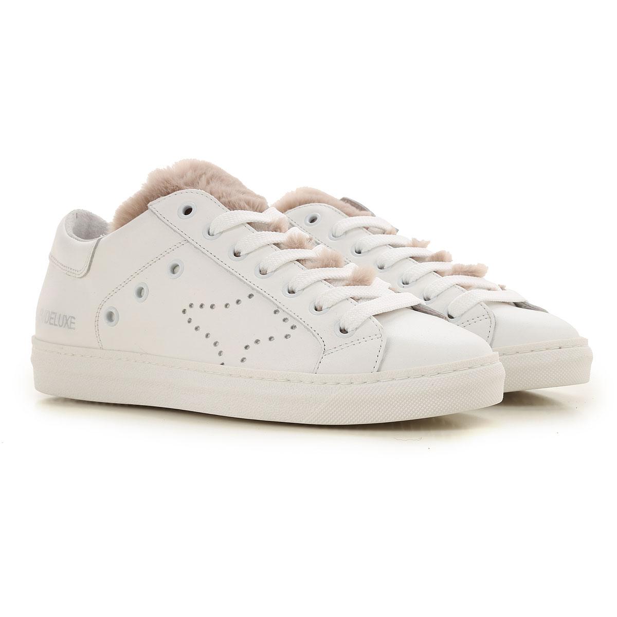 Ama Brand Sneaker Femme Pas cher en Soldes, Blanc, Cuir, 2017, 36 37 38 40
