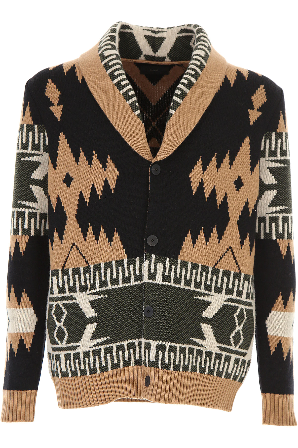 Image of ALANUI Sweater for Men Jumper, Black, Cashmere, 2017, L M