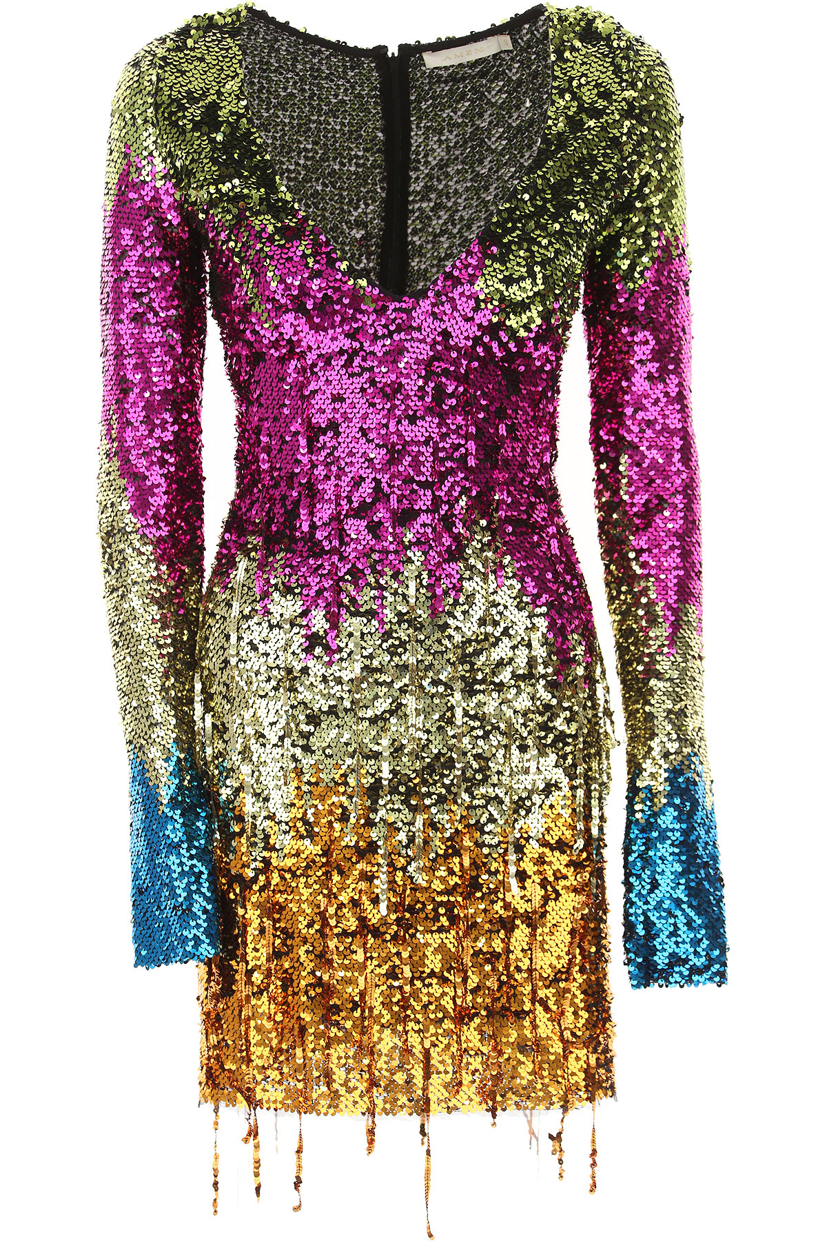 Image of Amen Dress for Women, Evening Cocktail Party, Fuchsia, polyamide, 2017, 4 6