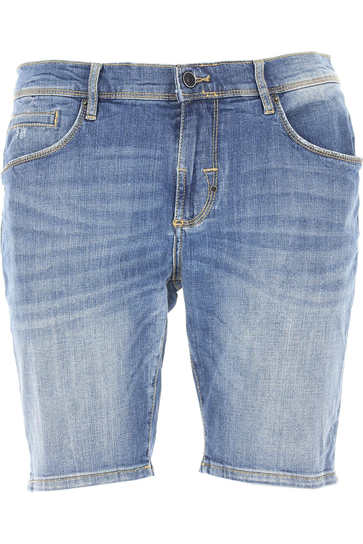 Antony Morato Shorts for Men On Sale, Denim Blue, Cotton, 2019, 32
