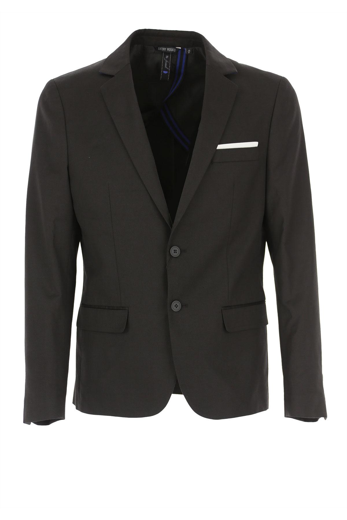 Antony Morato Blazer for Men, Sport Coat On Sale, Black, Cotton, 2019, L M S XL XS XXL