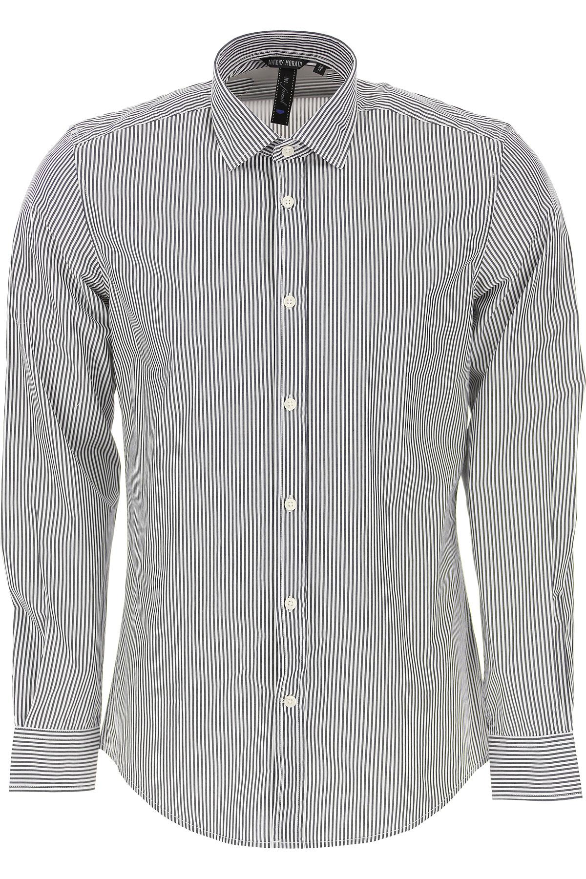 Antony Morato Shirt for Men On Sale, Ink Blue, Cotton, 2019, L M S XL XS