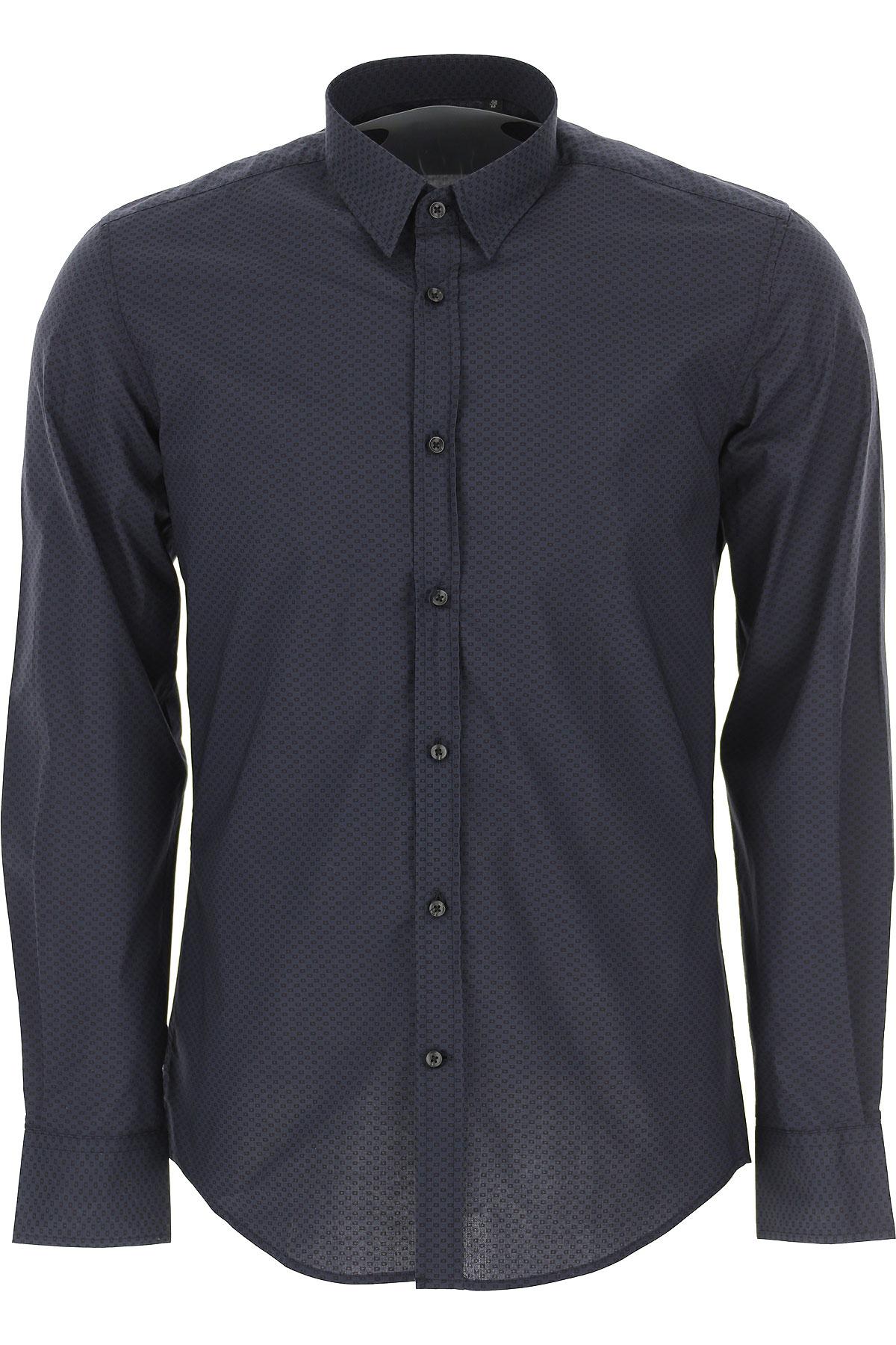 Antony Morato Shirt for Men On Sale, Petroleum Blue, Cotton, 2019, L M S XL XXL