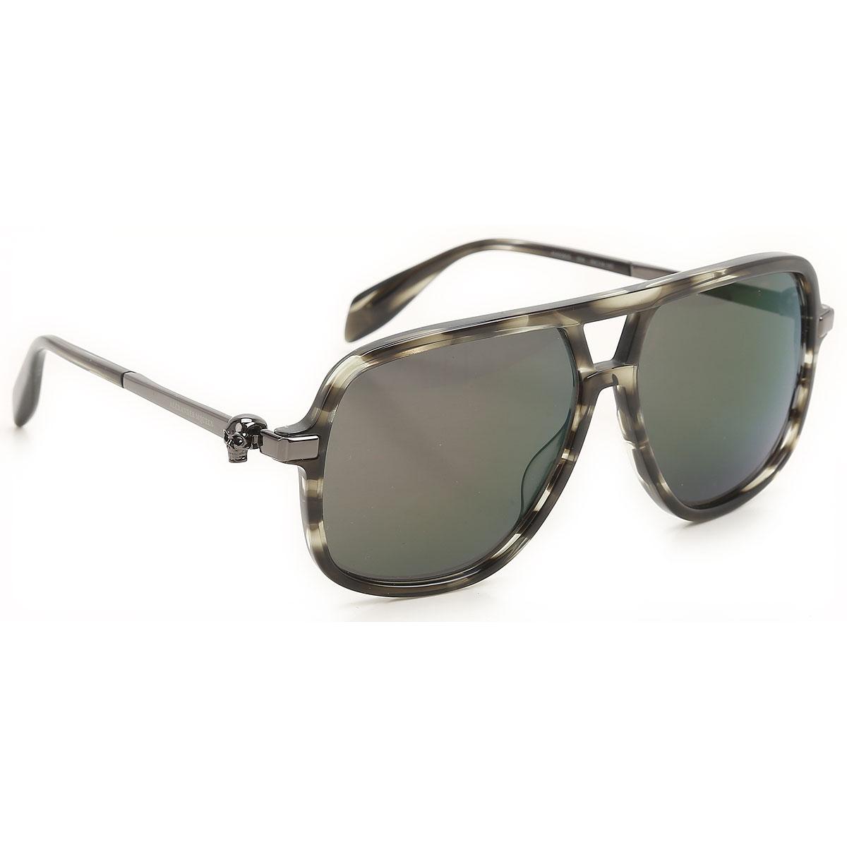 Alexander McQueen Sunglasses On Sale, Green Havana, 2019