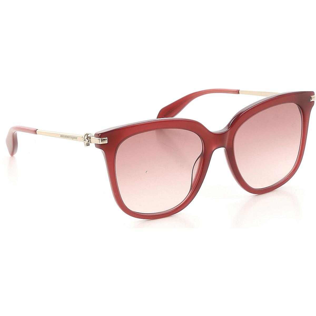 Alexander McQueen Sunglasses On Sale, Burgundy, 2019