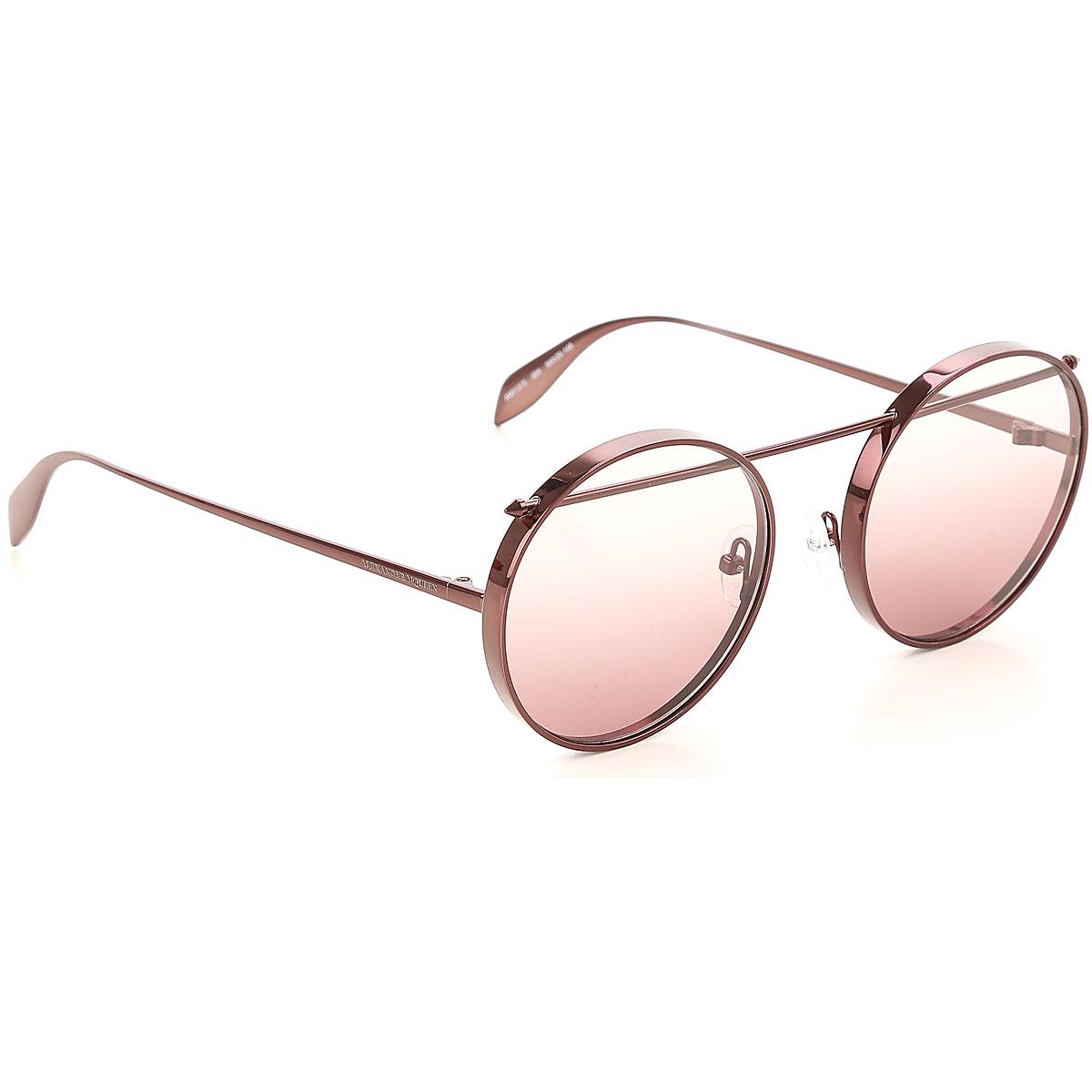 Alexander McQueen Sunglasses On Sale, Brown, 2019