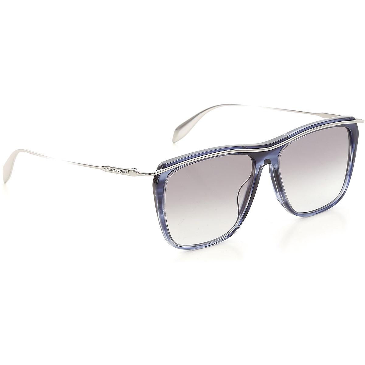 Alexander McQueen Sunglasses On Sale, Blue, 2019
