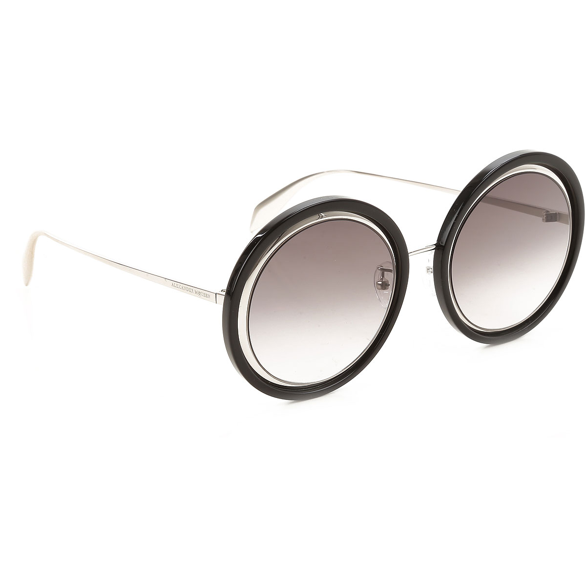 Alexander McQueen Sunglasses On Sale, Black, 2019