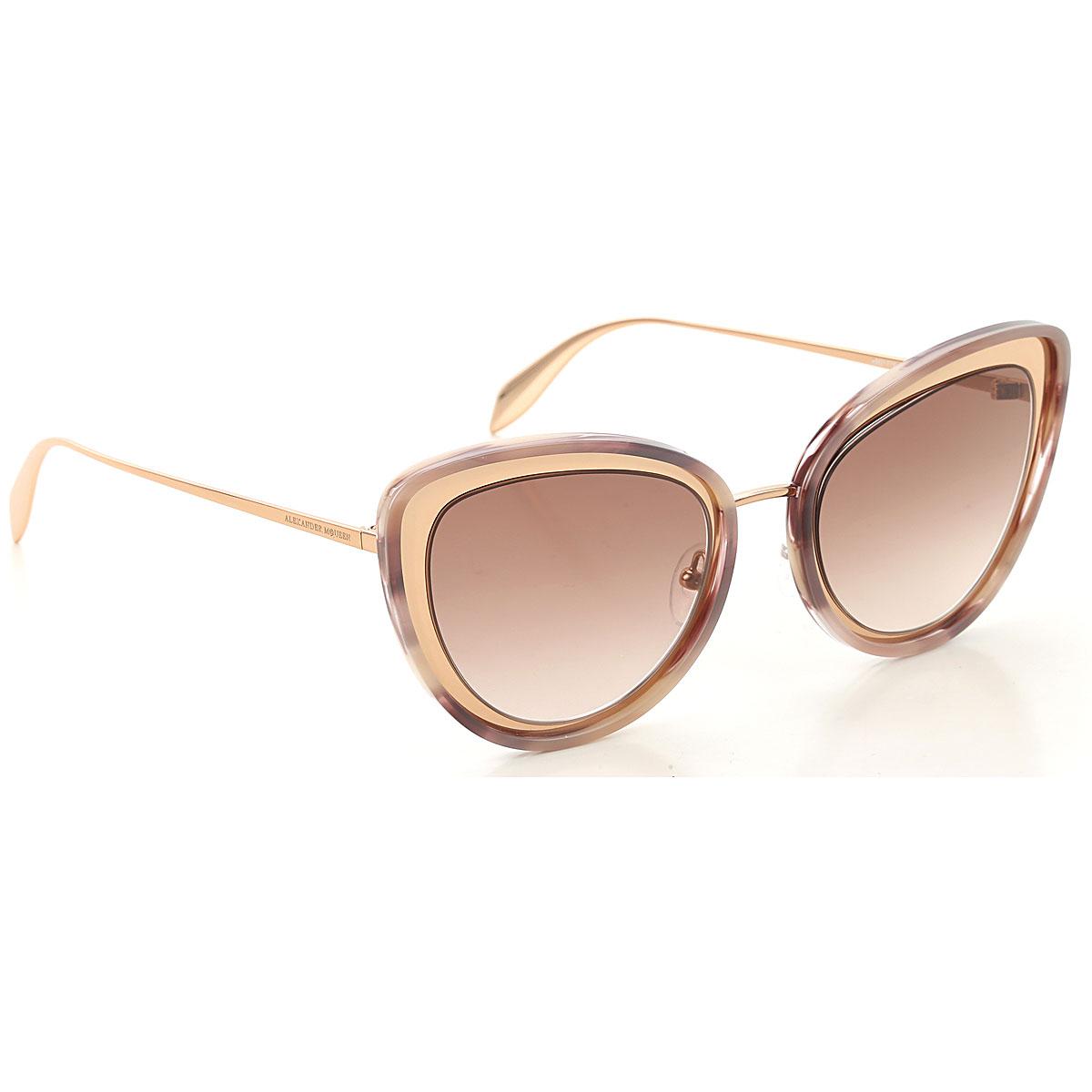 Alexander McQueen Sunglasses On Sale, Havana Rose, 2019