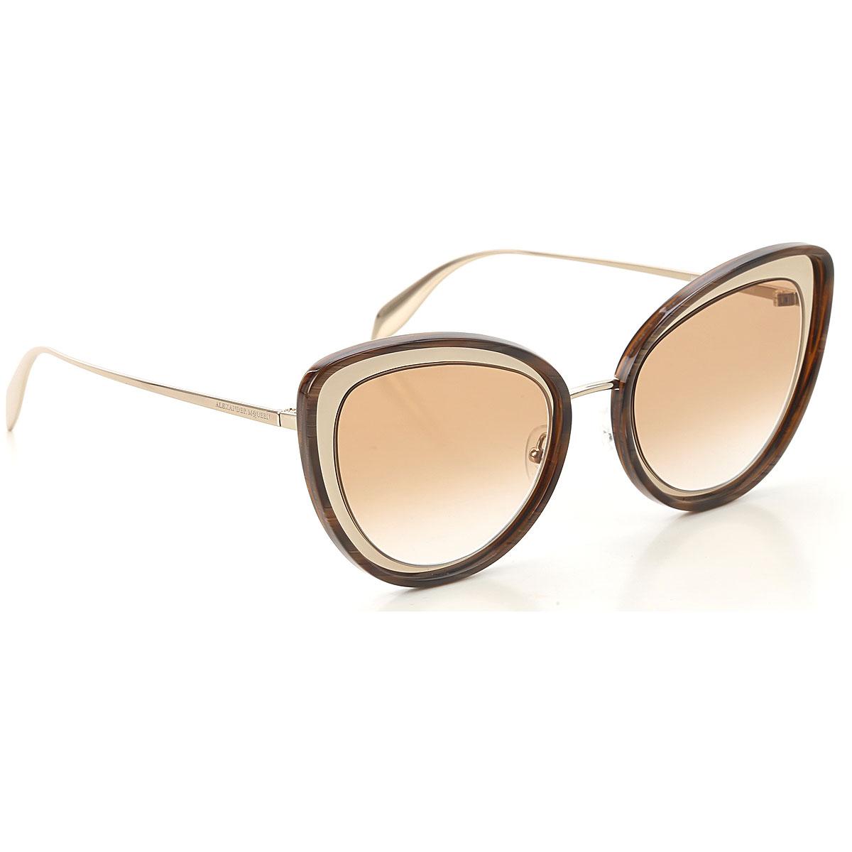 Alexander McQueen Sunglasses On Sale, Dark Havana, 2019