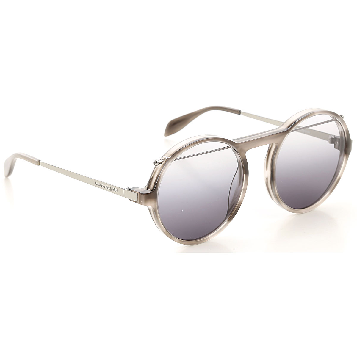 Alexander McQueen Sunglasses On Sale, Grey Havana, 2019