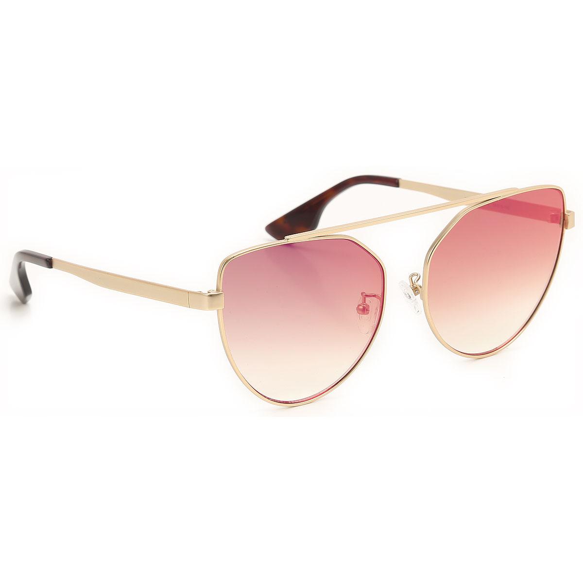 Alexander McQueen McQ Sunglasses On Sale, Gold, 2019