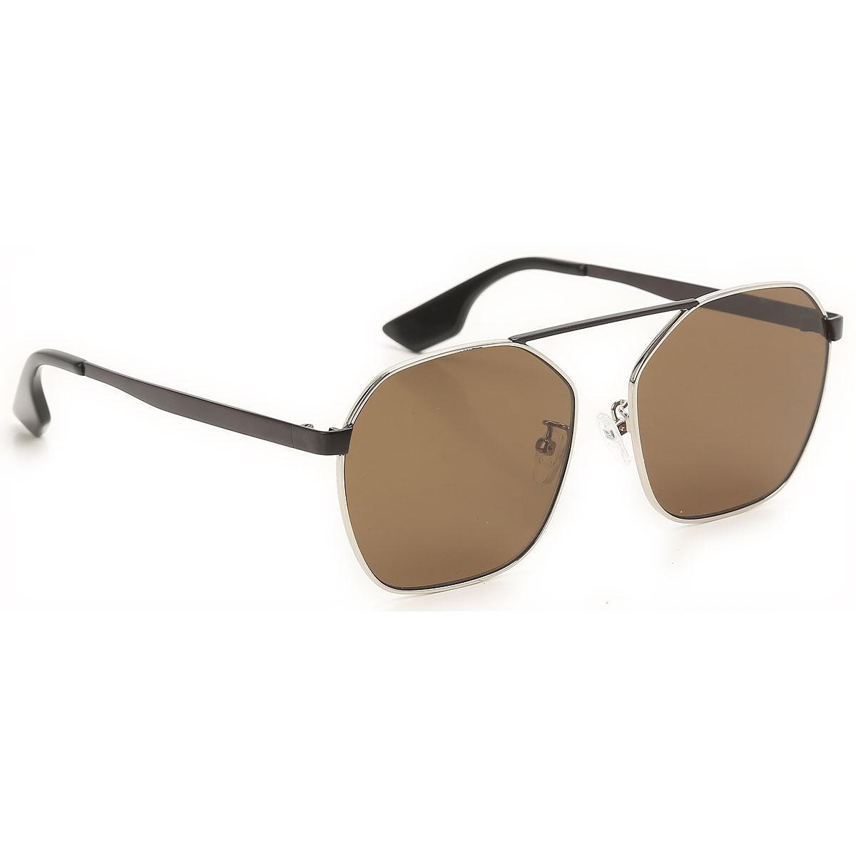 Alexander McQueen McQ Sunglasses On Sale, Silver, 2019