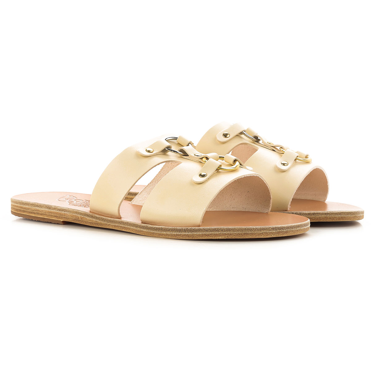 Image of Ancient Greek Sandals Sandals for Women On Sale in Outlet, Off White, Leather, 2017, 8 9