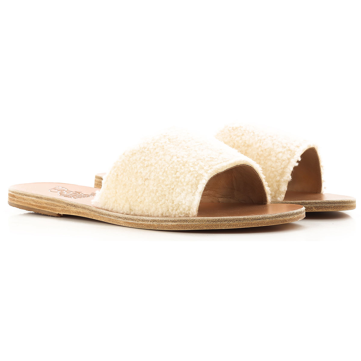 Ancient Greek Sandals Sandals for Women On Sale in Outlet, White, Wool, 2019, 10 9