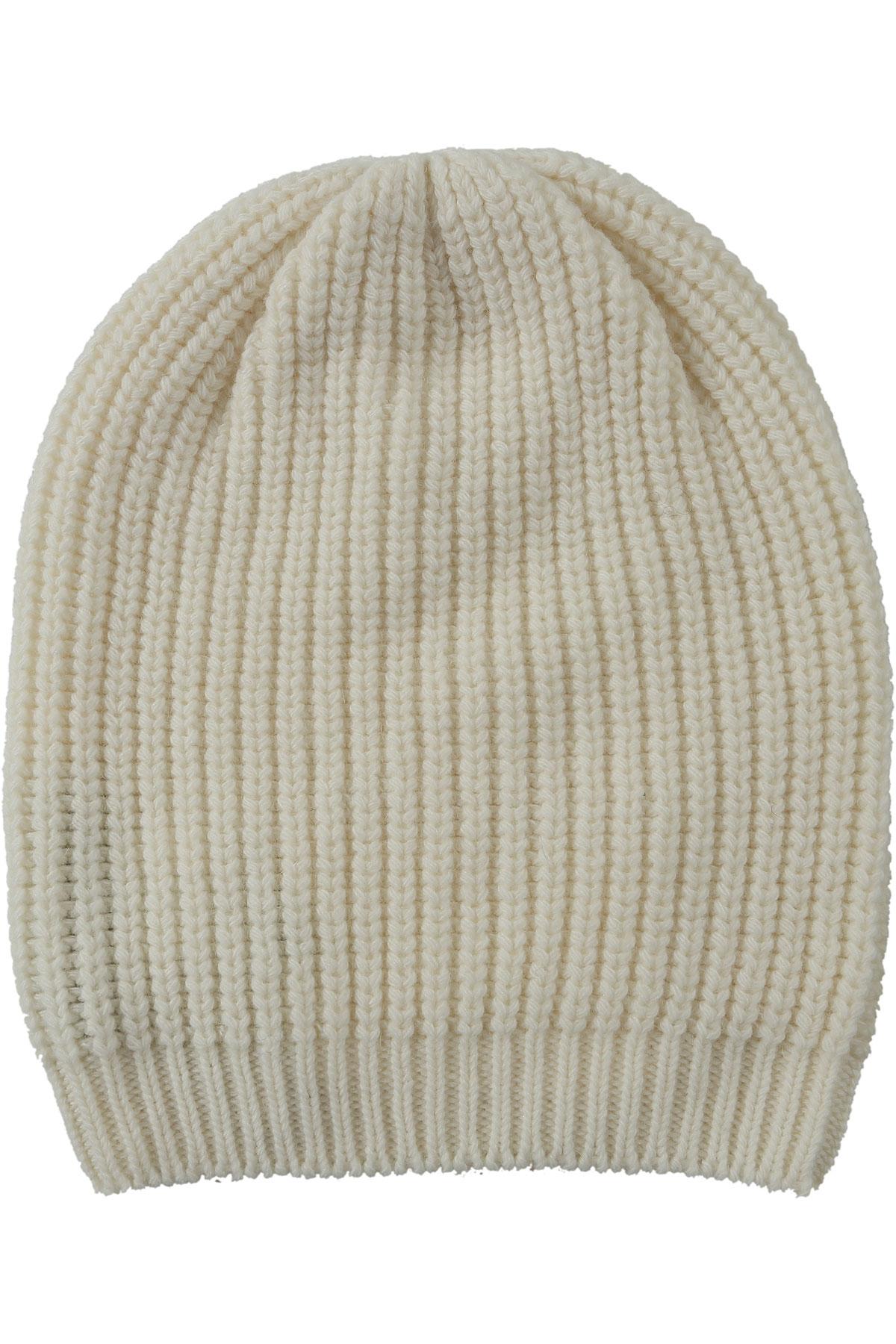 Angelo Marani Chapeau Femme Pas cher en Soldes, Blanc laiteux, Laine, 2017, 40 42 44 46 48 50 one size