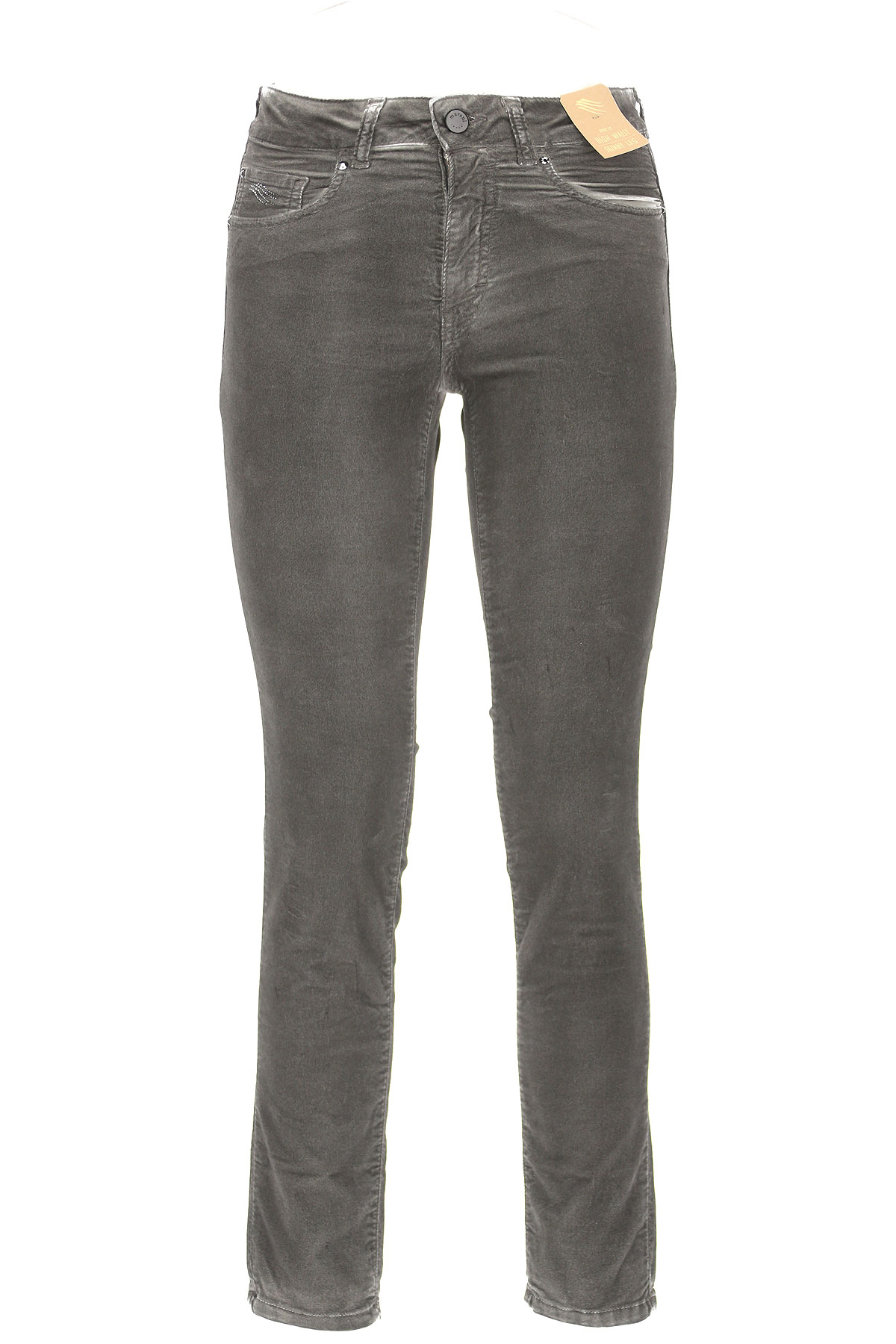 Image of Angelo Marani Jeans, Dark Grey, Cotton, 2017, 24 26 28 30 32