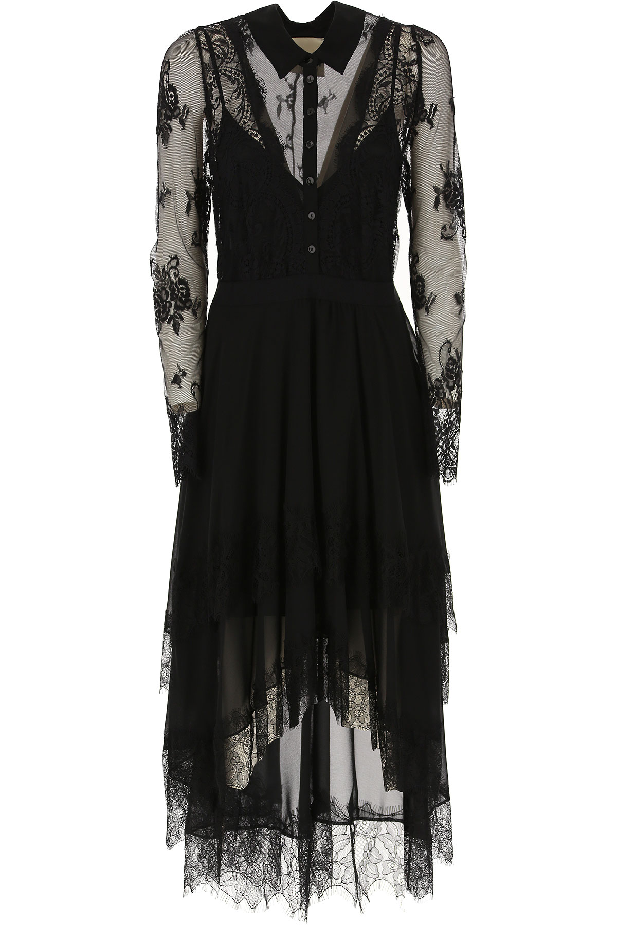 Aniye By Dress for Women, Evening Cocktail Party On Sale, Black, polyestere, 2019, 2 4 6