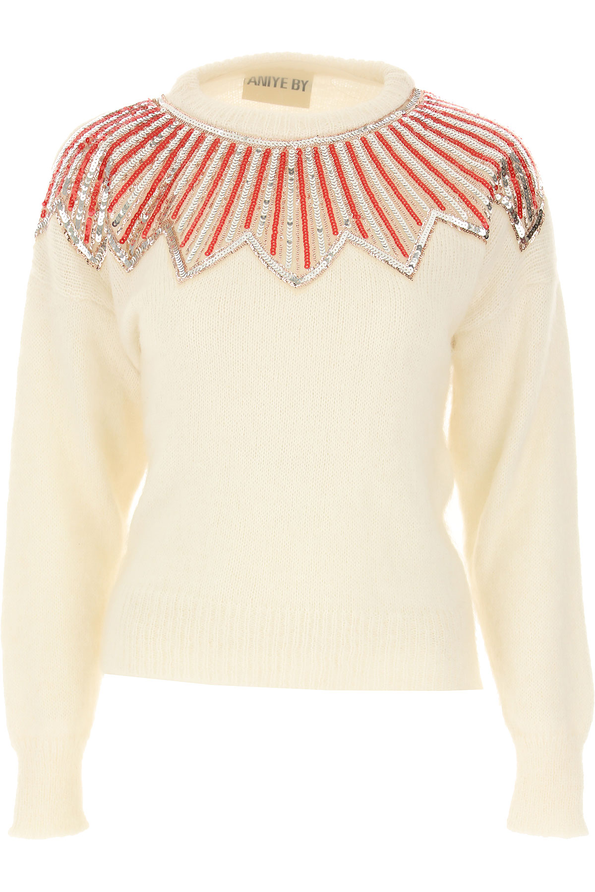 Aniye By Sweater for Women Jumper On Sale, White, Acrylic, 2019, 2 4 6
