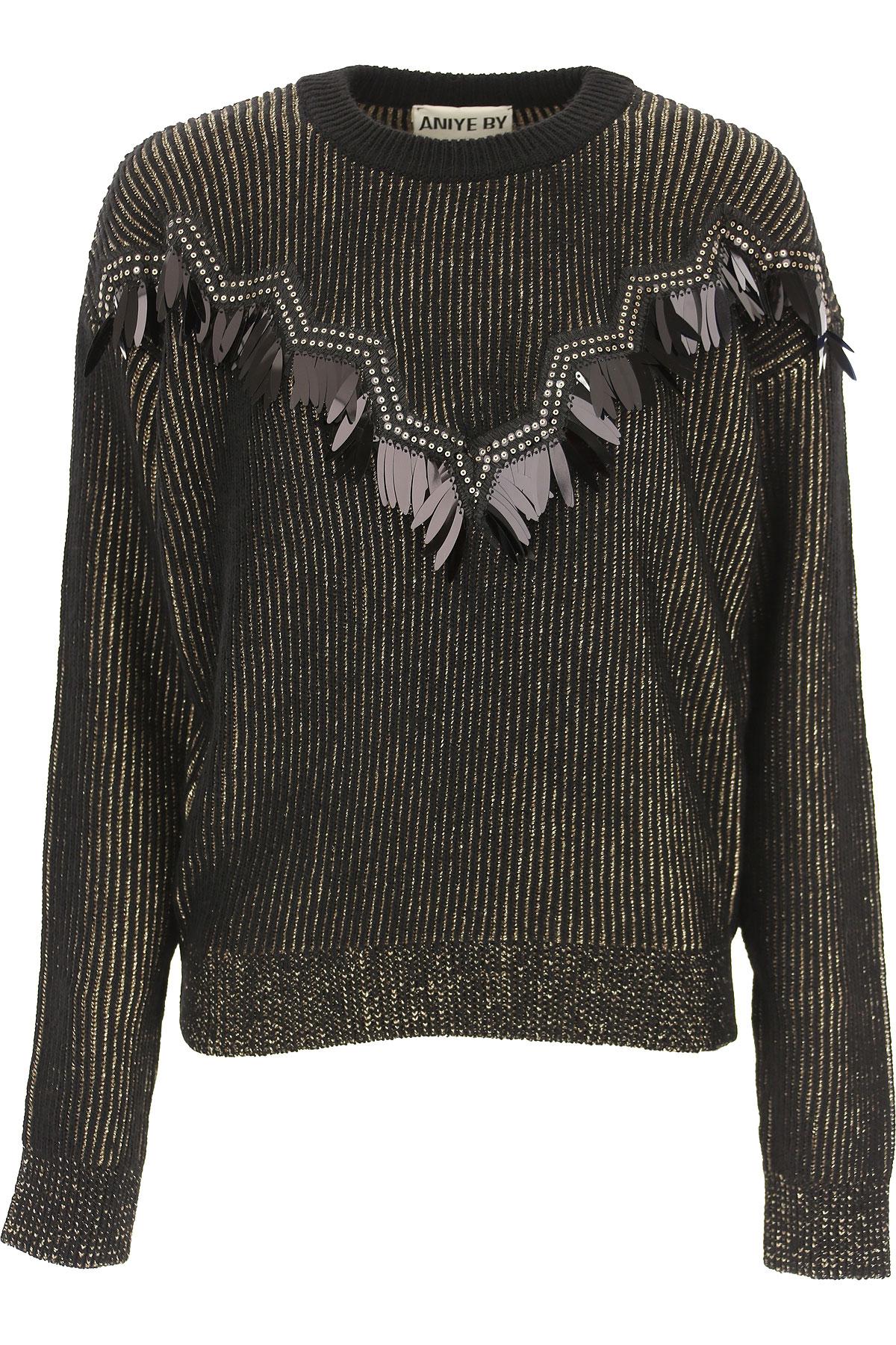 Aniye By Sweater for Women Jumper On Sale, Black, viscosa, 2019, 2 4 6