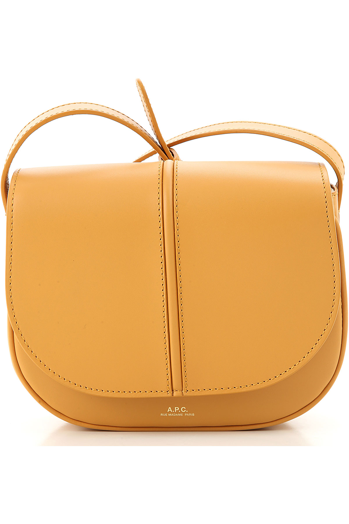 A.P.C Shoulder Bag for Women On Sale, Yellow, Leather, 2019