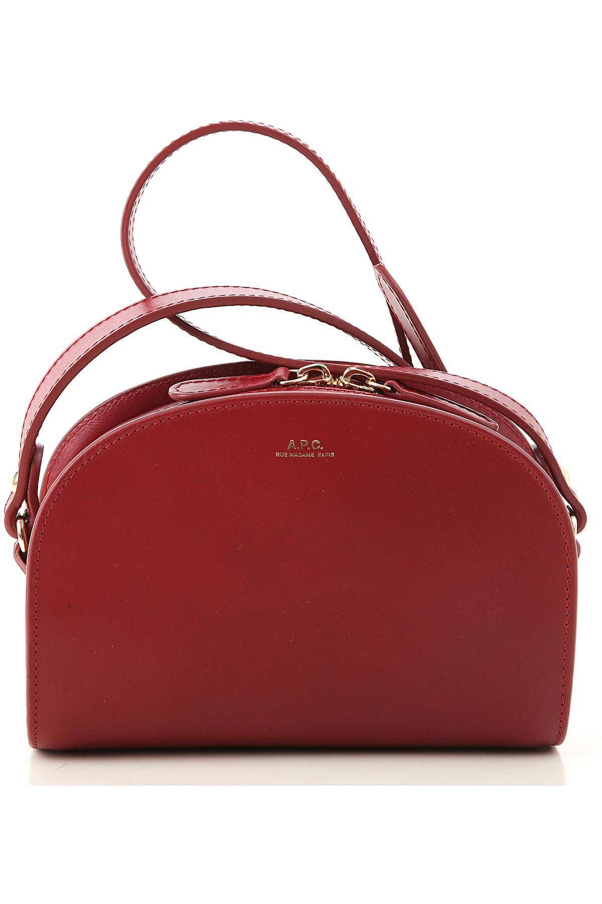 A.P.C Shoulder Bag for Women On Sale, Grenade Red, Leather, 2019