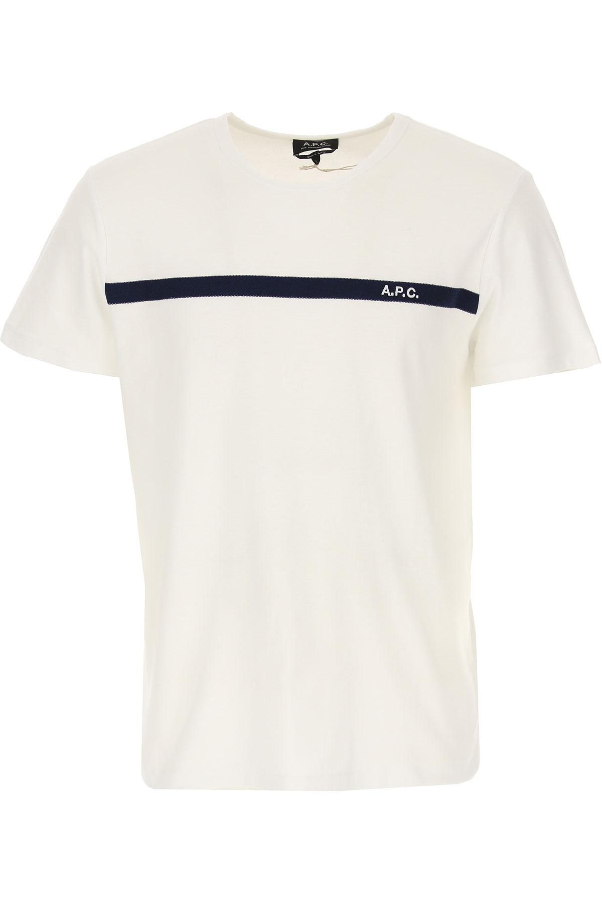 A.P.C T-Shirt for Men On Sale, White, Cotton, 2019, L M S