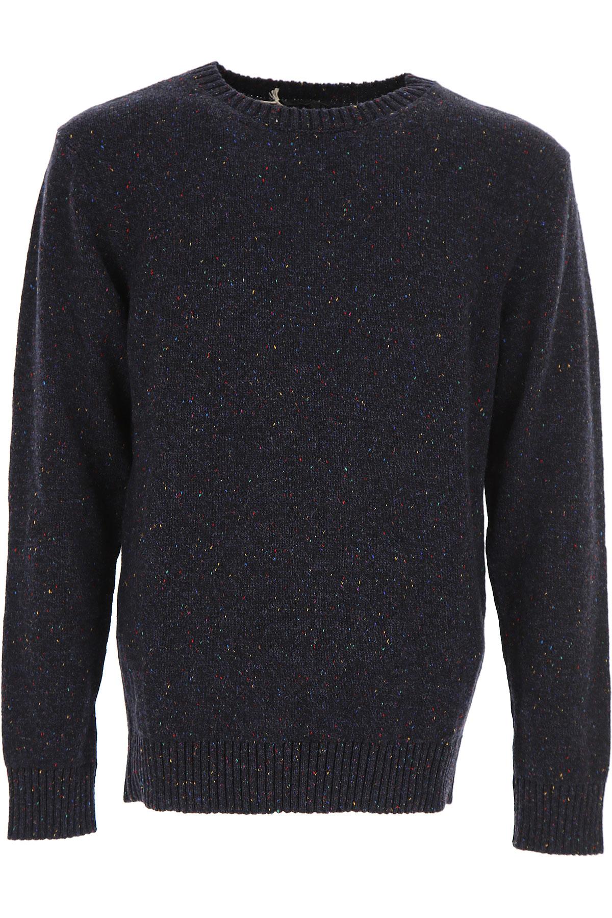 Image of A.P.C Sweater for Men Jumper, Melange Blue, Wool, 2017, L M S XL
