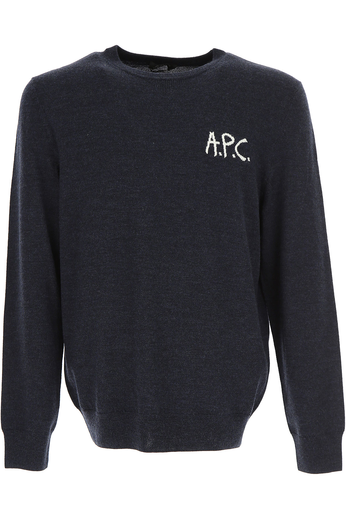 Image of A.P.C Sweater for Men Jumper, navy, merino wool, 2017, L M XL