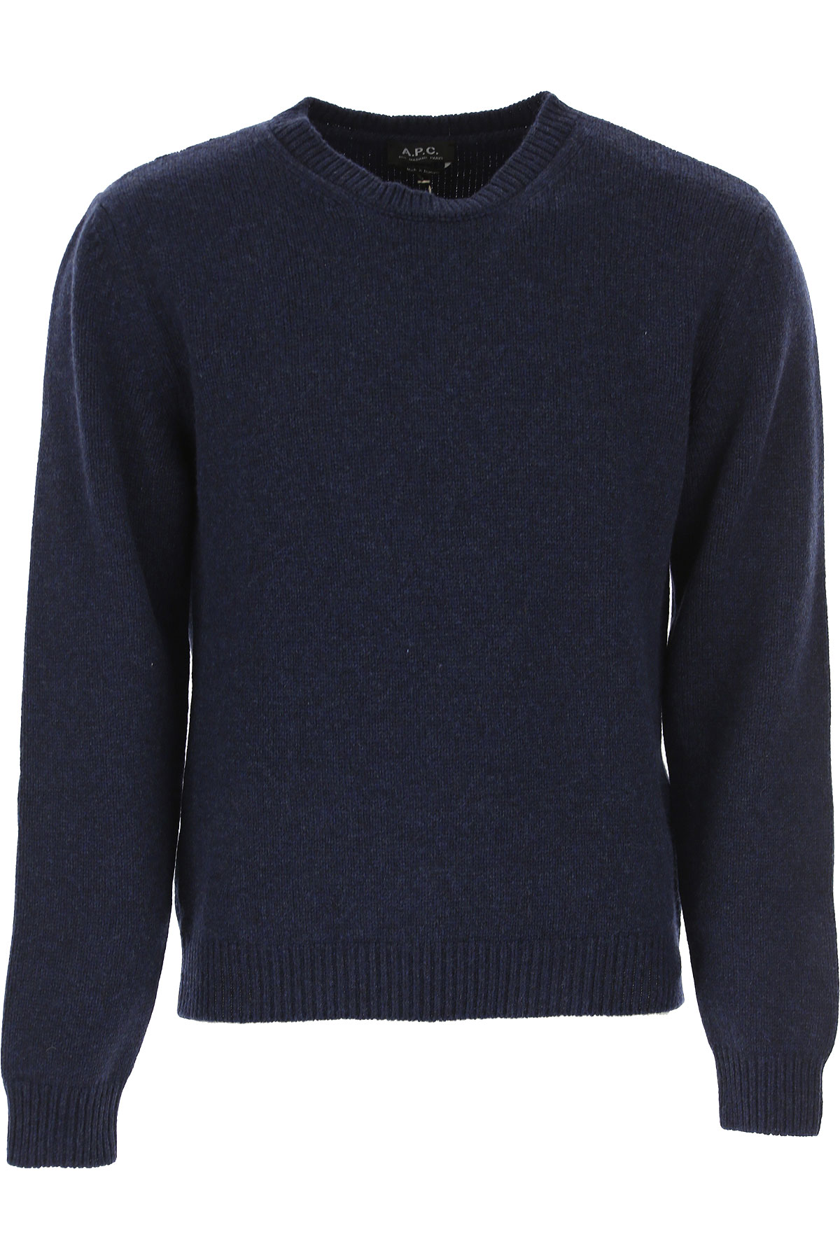 A.P.C Sweater for Men Jumper On Sale, Navy Blue, Wool, 2019, L M S