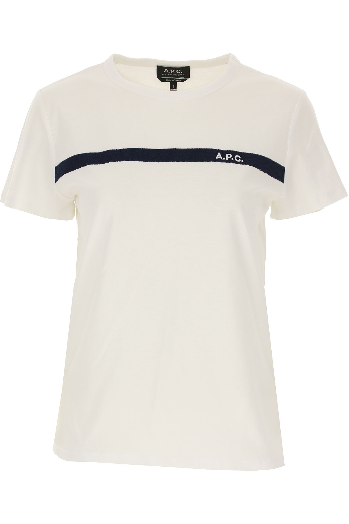 A.P.C T-Shirt for Women On Sale, White, Cotton, 2019, 6 8