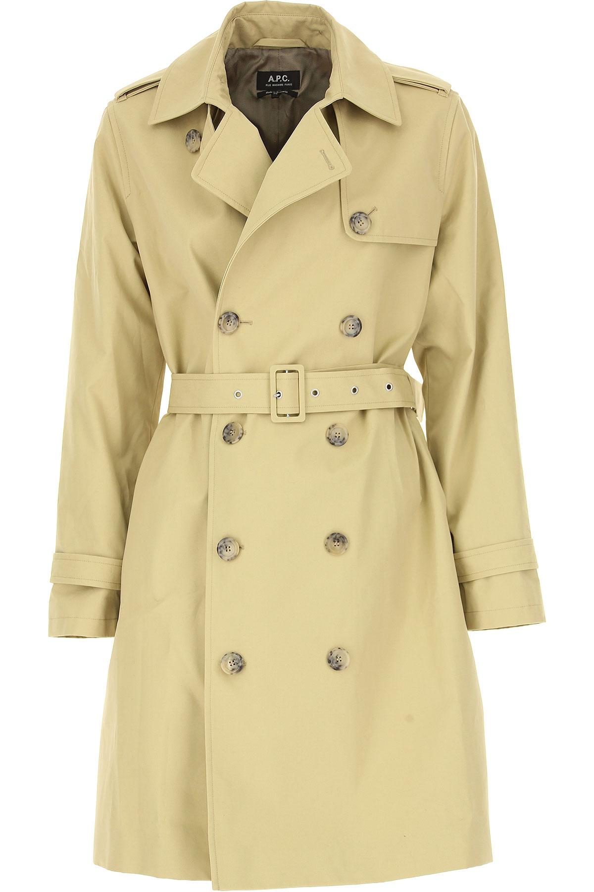 Image of A.P.C Women\'s Coat, Beige, Cotton, 2017, 2 4