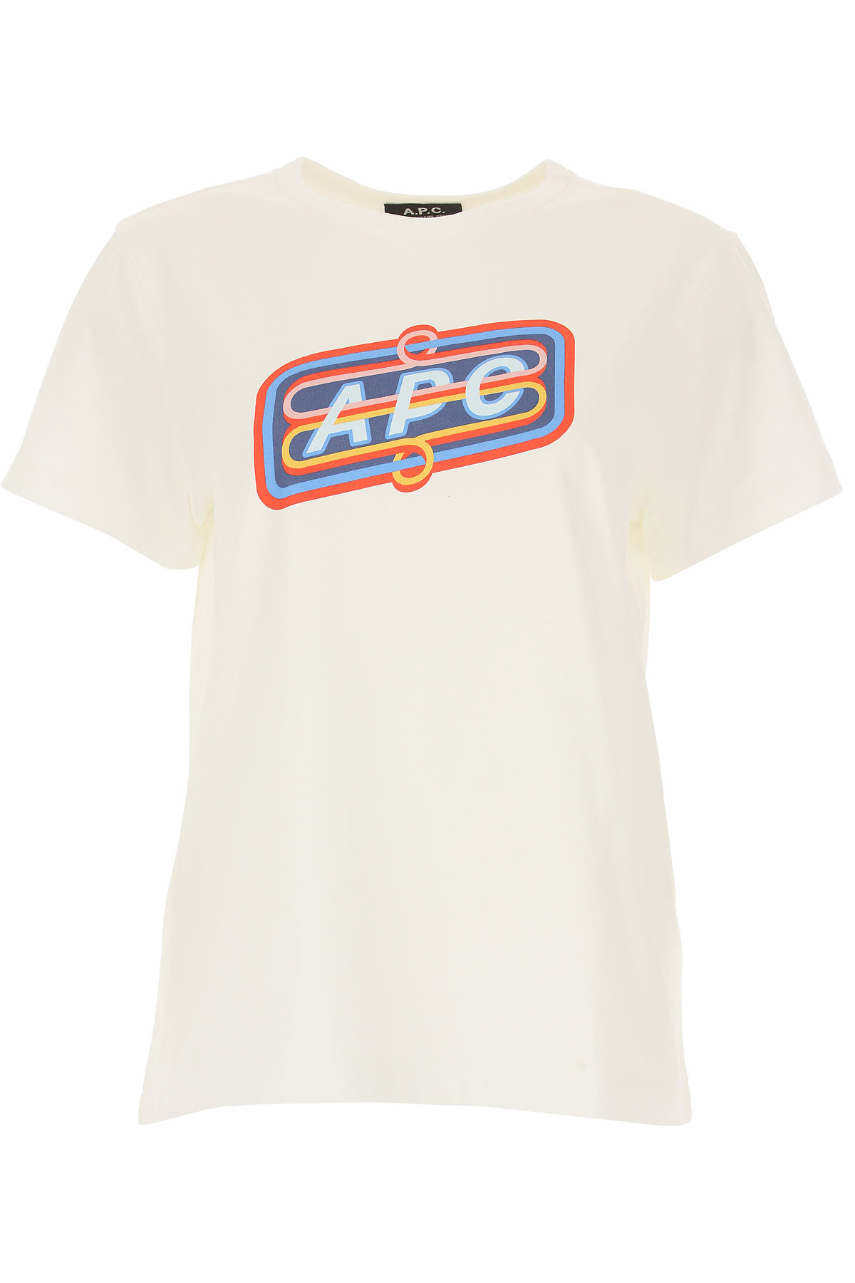 Image of A.P.C T-Shirt for Women, White, Cotton, 2017, 4 6 8
