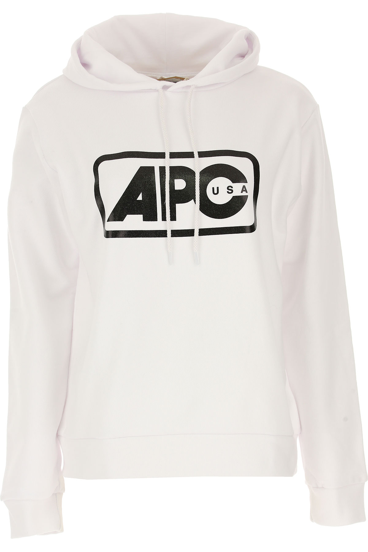 Image of A.P.C Sweatshirt for Women, White, Cotton, 2017, 2 4 6 8