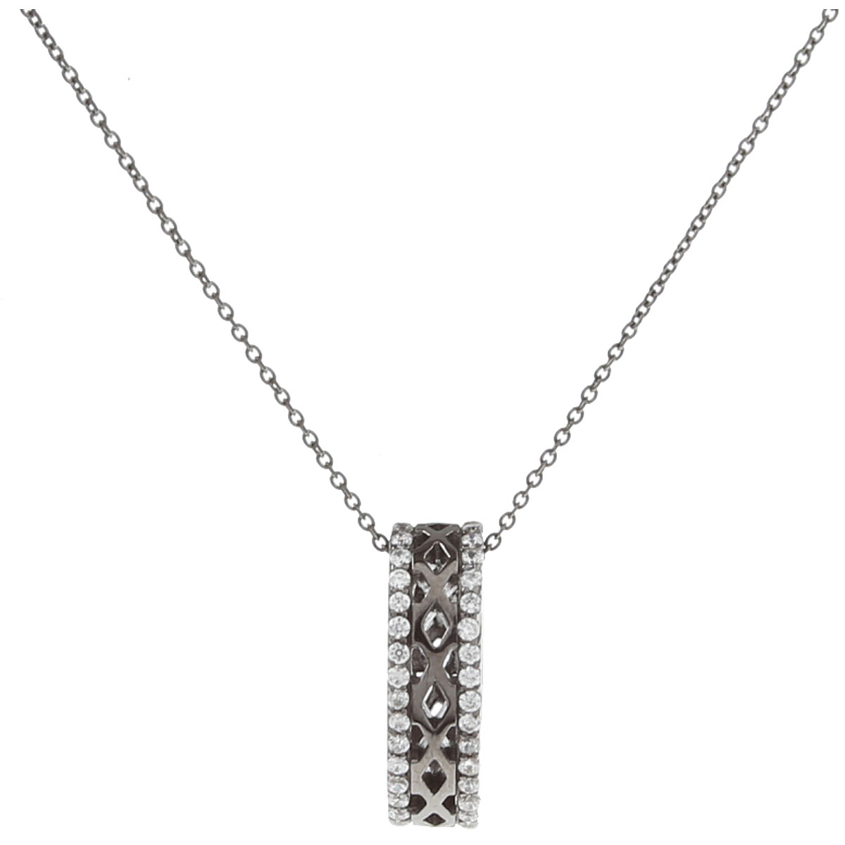 APM Monaco Necklaces On Sale, Black, Silver 925, 2019