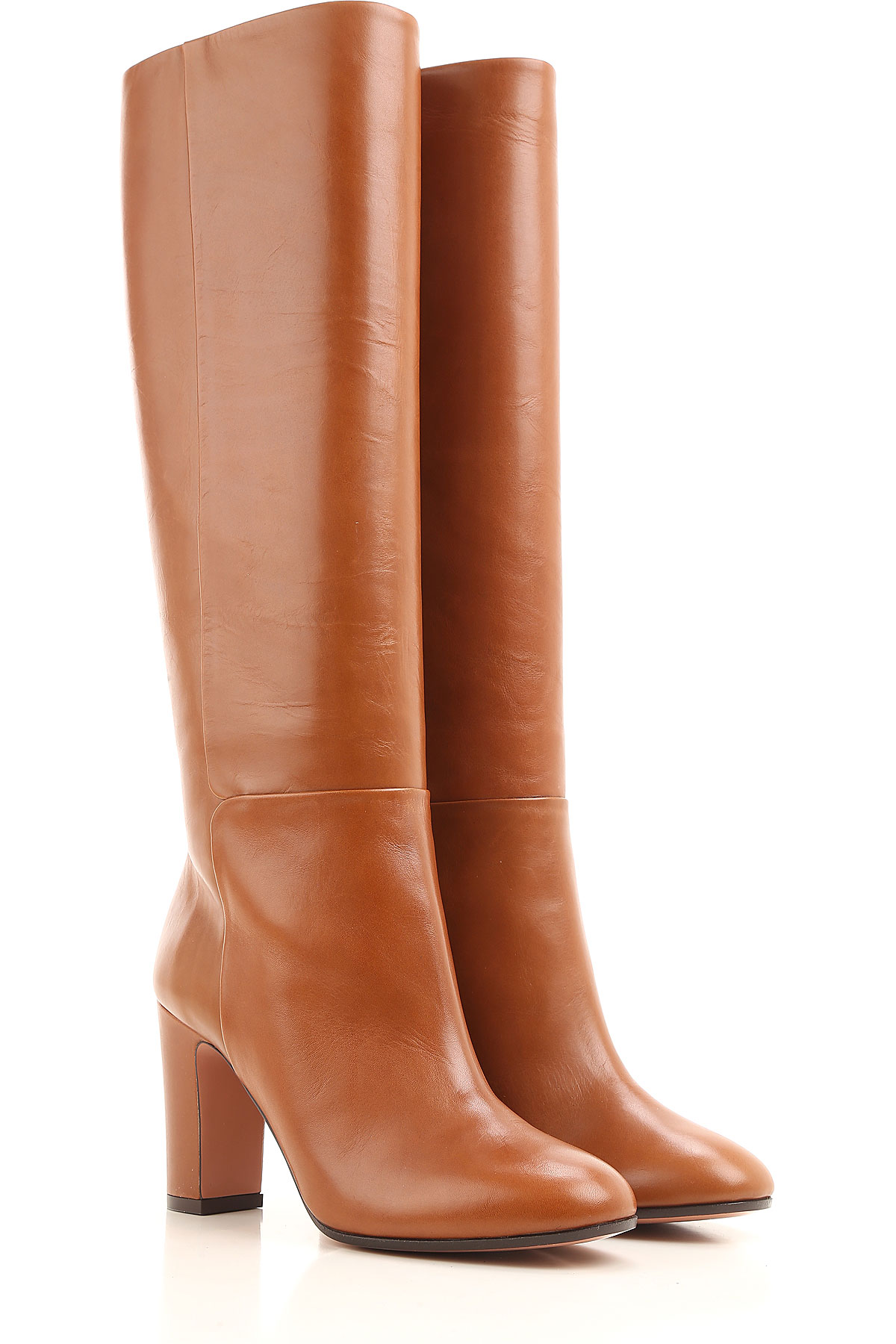 Image of Aquazzura Boots for Women, Booties On Sale in Outlet, Light Brown, Leather, 2017, 10 5 6 8
