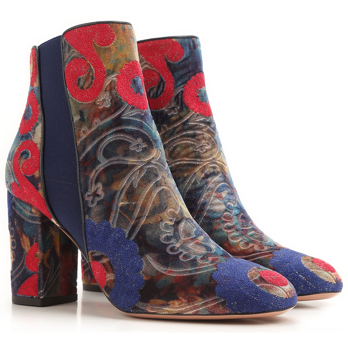 Image of Aquazzura Boots for Women, Booties On Sale in Outlet, Multicolor, Velvet, 2017, 5 6 7