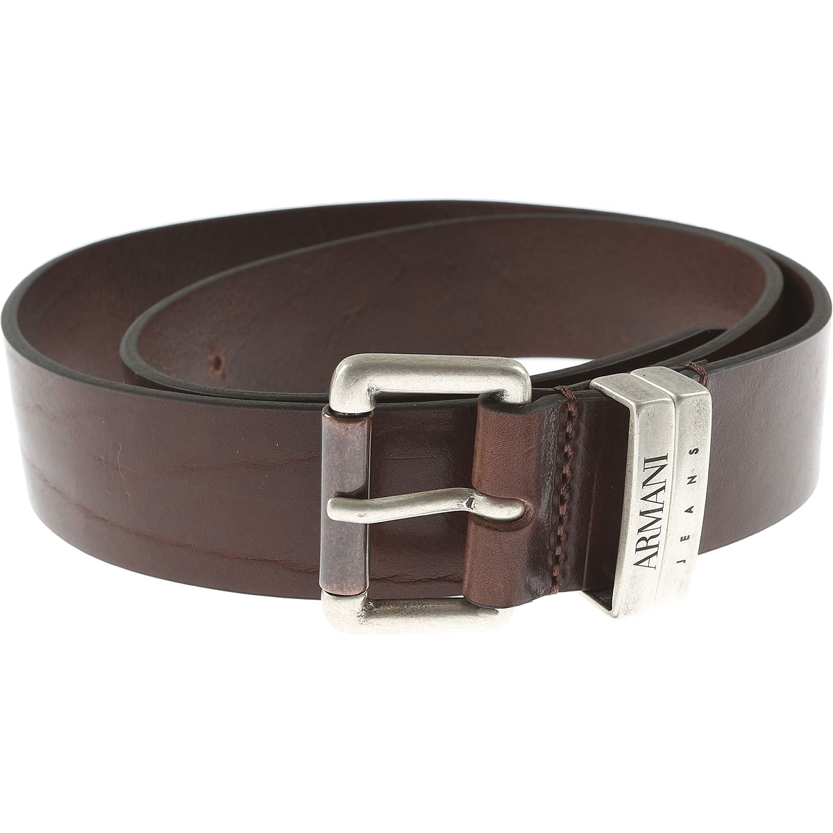 Armani Jeans Mens Belts On Sale, Dark Brown, Leather, 2017, III (85-100 cm  34-40 inches) IV (90-105 cm  36-42 inches)