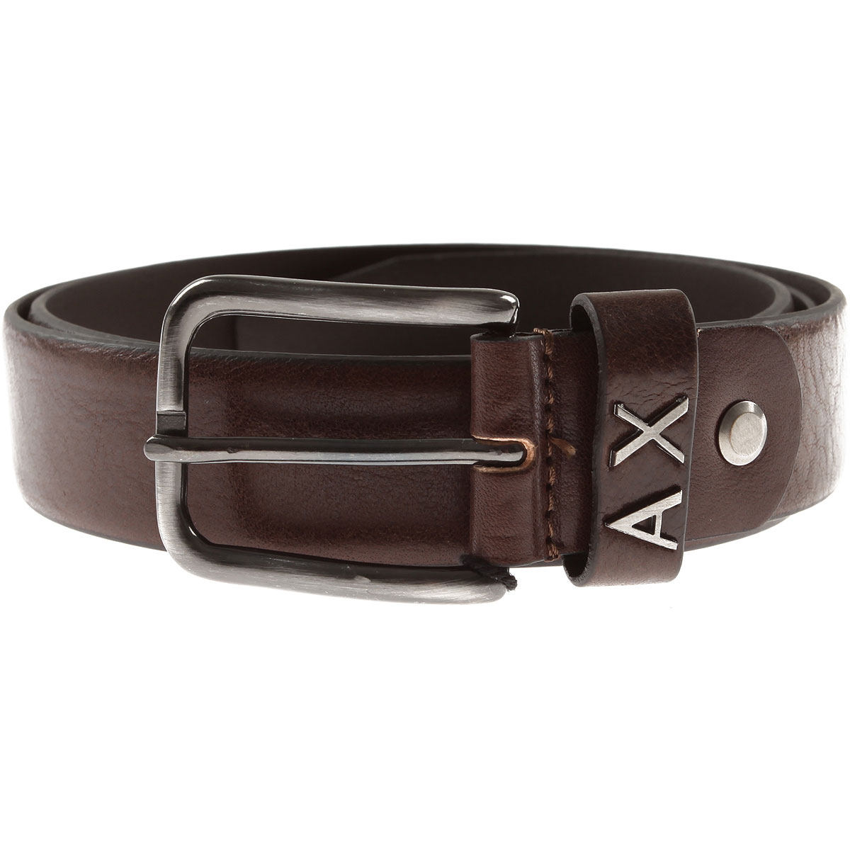 Image of Armani Jeans Mens Belts, Brown, leathera, 2017, 34 36 38 40