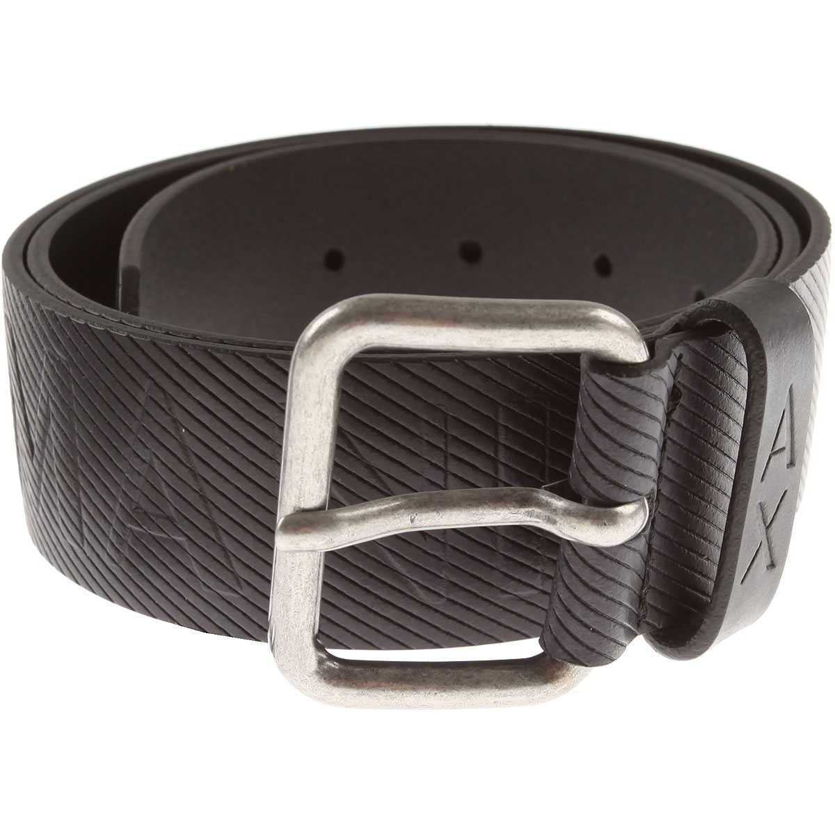 Image of Armani Jeans Mens Belts, Black, Genuine Leather, 2017, 34 36 38 40