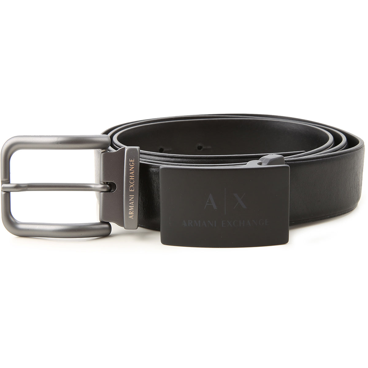 Armani Exchange Mens Belts On Sale, Set Belt, Black, Genuine Leather, 2019