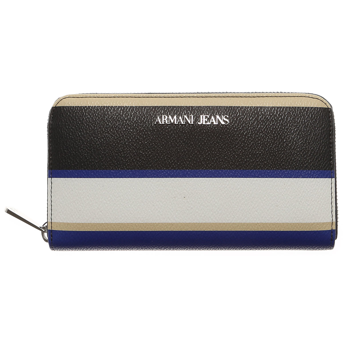 Image of Armani Jeans Wallet for Women On Sale, White, Coated Canvas, 2017